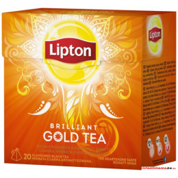 Herbata LIPTON PIRAMID GOLD TEA BRILLIANT 20t czarna
