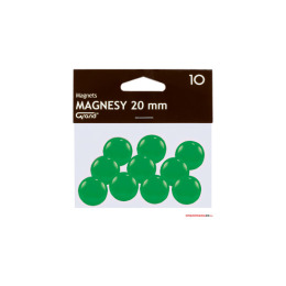 Magnesy 20mm GRAND zielone   (10)^ 130-1692