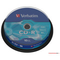 Płyta CD-R VERBATIM CAKE(10) Extra Protection 700MB x52    43437